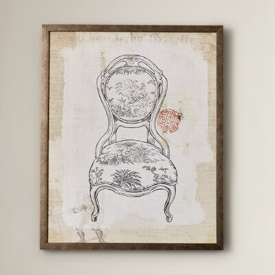 'Victorian Chair III' Framed Graphic Art