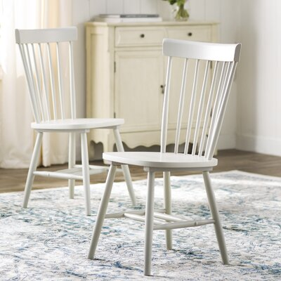Saint-Pierre Solid Wood Dining Chair Finish: Gray