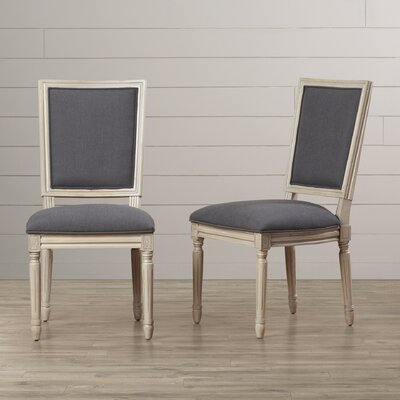 Guillemette Upholstered Dining Chair Finish: Charcoal / Rustic Gray