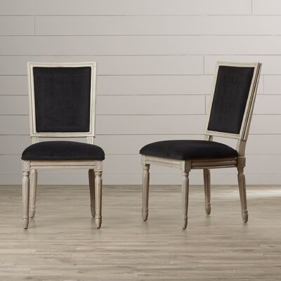 Guillemete Side Chair Finish: Black Velvet / Rustic Gray