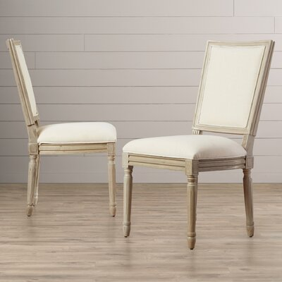 Guillemete Side Chair Finish: Light Beige/Rustic Gray