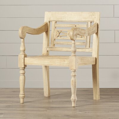 Burnet Carved Wood Armchair