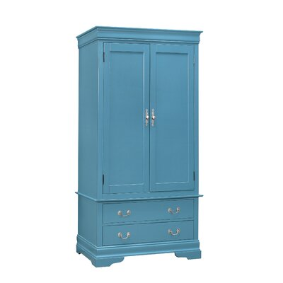 Corbeil Armoire Finish: Teal