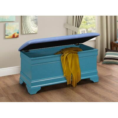 Corbeil Wood Storage Bench Finish: Teal