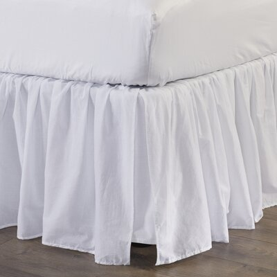 Bugrane Voile Bed Skirt Size: Queen