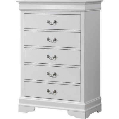 Corbeil 5 Drawer Chest Color: White