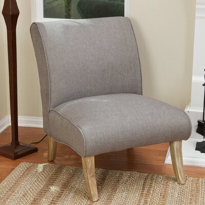 Anae Fabric Slipper Chair Upholstery: Light Grey