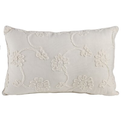 Delincourt 100% Cotton Lumbar Pillow Color: White