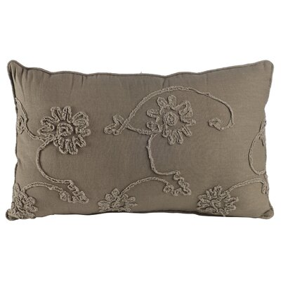 Delincourt 100% Cotton Lumbar Pillow Color: Gray