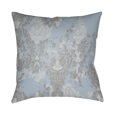 Chapelle Throw Pillow Size: 18 H x 18 W x 4 D, Color: Light Blue/Gray