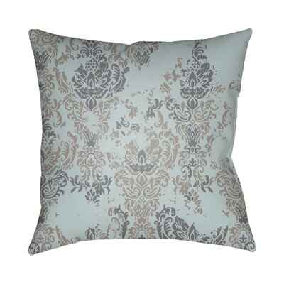 Chapelle Throw Pillow Size: 18 H x 18 W x 4 D, Color: Turquoise/Gray