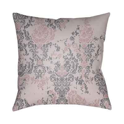 Chapelle Throw Pillow Size: 18 H x 18 W x 4 D, Color: Pink/Gray