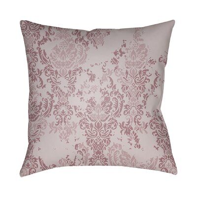Chapelle Throw Pillow Color: Pink, Size: 20 H x 20 W x 4 D