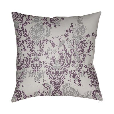 Chapelle Throw Pillow Size: 18 H x 18 W x 4 D, Color: Gray/Purple