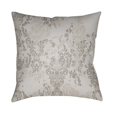 Chapelle Throw Pillow Size: 18 H x 18 W x 4 D, Color: Light Gray/Medium Gray