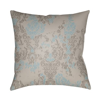 Chapelle Throw Pillow Size: 18 H x 18 W x 4 D, Color: Taupe/Light Blue