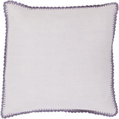 Guerrette Linen Throw Pillow Size: 22 H x 22 W x 4 D, Color: Lilac/Bright Purple, Filler: Down