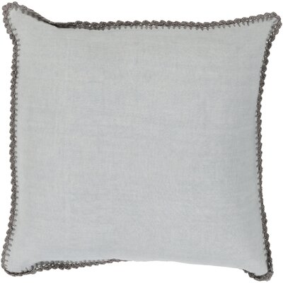 Guerrette Linen Throw Pillow Size: 22 H x 22 W x 4 D, Color: Slate/Gray, Filler: Down