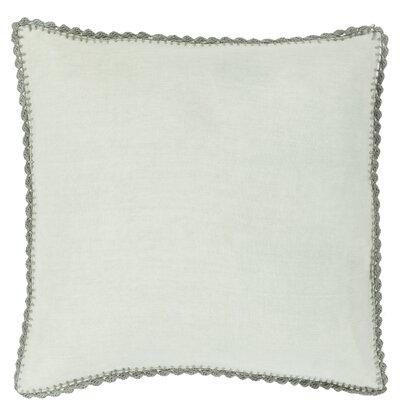 Guerrette Linen Throw Pillow Size: 18 H x 18 W x 4 D, Color: Sea Foam/Gray, Filler: Down