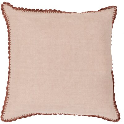 Guerrette Linen Throw Pillow Size: 20 H x 20 W x 4 D, Color: Pale Pink/Rose, Filler: Down