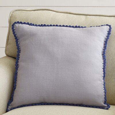 Guerrette Linen Throw Pillow Size: 18 H x 18 W x 4 D, Color: Lavender/Violet, Filler: Down