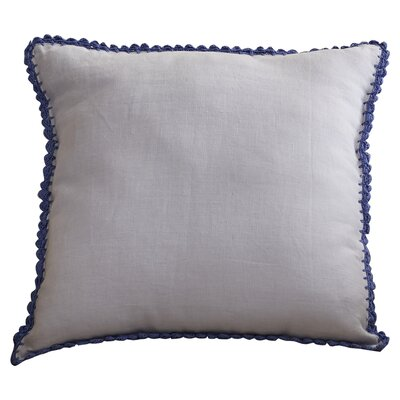 Guerrette Linen Throw Pillow Size: 22 H x 22 W x 4 D, Color: Lavender/Violet, Filler: Down