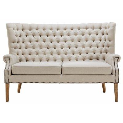 Lepore Wing Loveseat Upholstery: Beige
