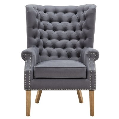 Lepore Wingback Arm Chair Upholstery: Gray