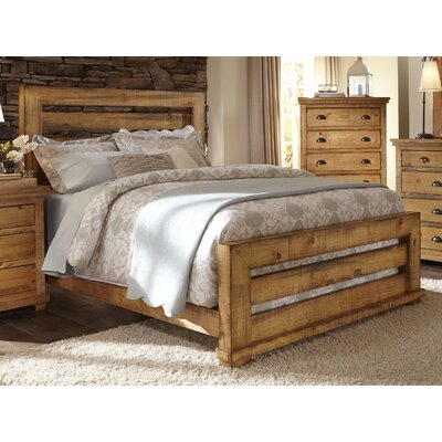 Assya Panel Bed Size: Queen, Finish: Pine