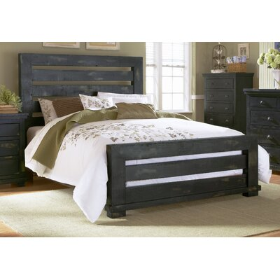 Assya Panel Bed Size: Queen, Finish: Black