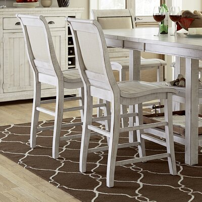 Castagnier 24 Bar Stool Finish: Distressed White