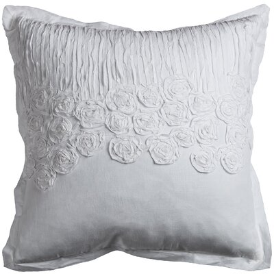 Lierre Cotton Voile Throw Pillow Color: White