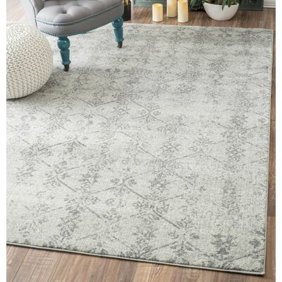 Allevard Vintage Silver Area Rug Rug Size: Rectangle 9 x 12