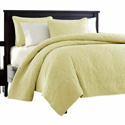 Emy Coverlet Set Size: King, Color: Yellow