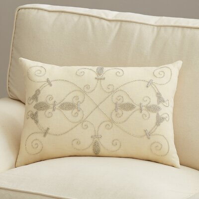 Pensee Throw Pillow Color: Ivory, Size: 20 x 20, Fill Material: Polyester