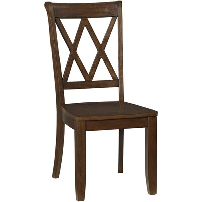 side chair set of 2 finish warm sienna brown dining room side chair