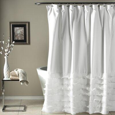 Lafleur Shower Curtain Color: White