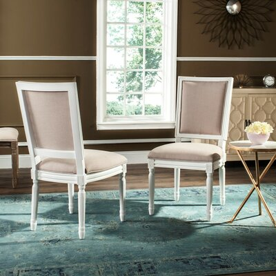 Elyas Side Chair Upholstery: Taupe