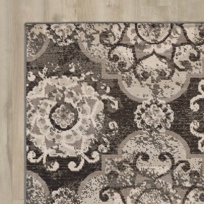 Raquel Charcoal & Black Area Rug Rug Size: Rectangle 68 x 98