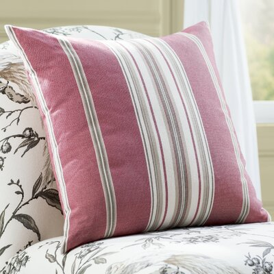 Anis Throw Pillow Color: Red