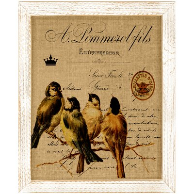 'Bird on Branch' Framed Graphic Art