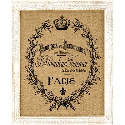 'Paris Crown' Framed Graphic Art