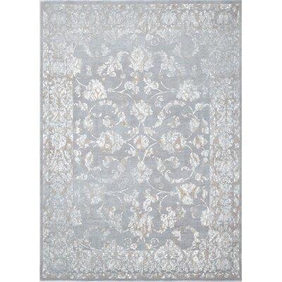 Bastien Silver Gray Area Rug Rug Size: 52 x 72