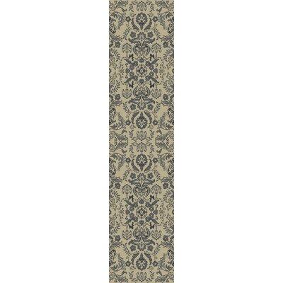 Baume Ivory/Blue Area Rug Rug Size: Runner 22 x 711
