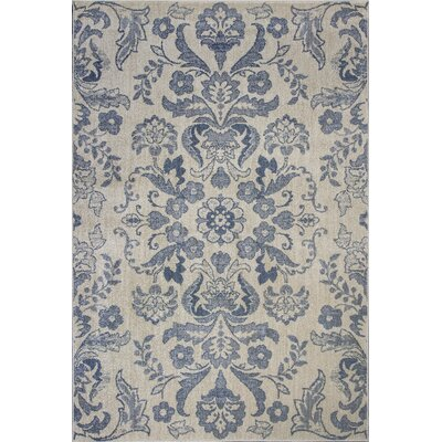 Baume Ivory/Blue Area Rug Rug Size: Rectangle 77 x 1010