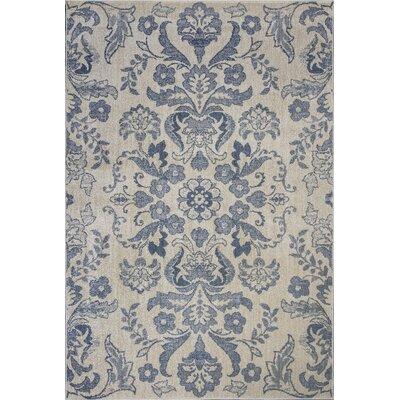 Baume Ivory/Blue Area Rug Rug Size: 53 x 78
