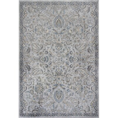 Benoit Silver/Blue Area Rug Rug Size: 710 x 112