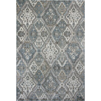 Benoit Silver Area Rug Rug Size: 53 x 77