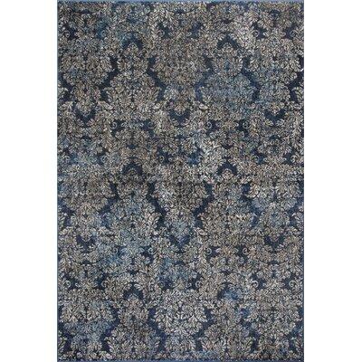 Benoit Slate Blue Area Rug Rug Size: 53 x 77