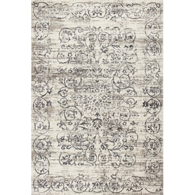 Camellia Ivory/Gray Area Rug Rug Size: 33 x 47